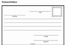 post card print template homeschool parent post card pattern