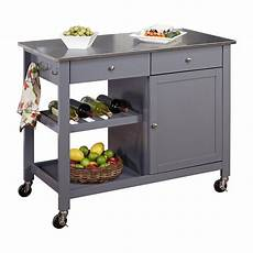 metal island kitchen tms columbus kitchen island with stainless steel top