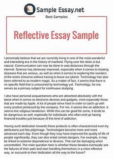 Personal Reflection Essay Pin By Sample Essays On Example Of Reflective Essay