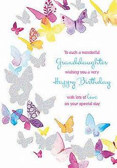 birthday card templates for granddaughter granddaughter birthday card colourful butterfly design