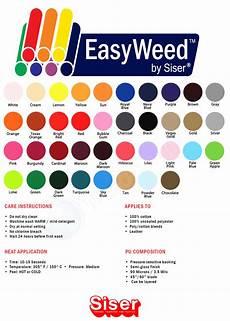 Siser Easyweed Heat Transfer Vinyl Color Chart Siser Easyweed Heat Transfer Vinyl Htv 15 Quot X 5 Yard Roll