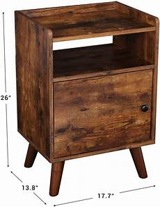 Hoobro End Table Rustic Side Table With 3 Tier Shelf by Lot Detail Hoobro End Table 3 Tier Nightstand With Door