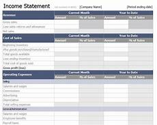 Microsoft Income Statements Income Statement Template Free Income Statement Template