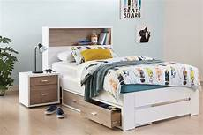 king single bed frame with storage headboard by