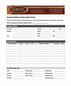 Return Authorization Form Template Free 39 Authorization Form Templates Pdf