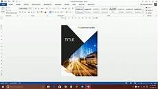 Page Design In Word How To Design A Book Cover Using Ms Word Part 1