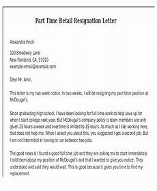 Two Weeks Notice Letter Retail 11 Retail Resignation Letter Template Free Word Pdf