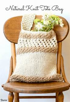 how to knit a bag knit tote bag pattern darice