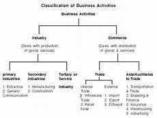 Business Activities Chart Nature And Purpose Of Business Class 11 Notes Business