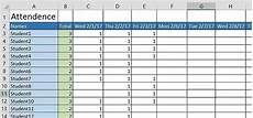 Attendance Sheet In Excel How To Create A Basic Attendance Sheet In Excel