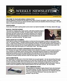 Newsletter Examples For Schools Free 12 Sample Weekly Newsletter Templates In Ms Word