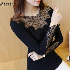 plus size sleeve tops sweaters slim lace patchwork sweaters sleeve lace