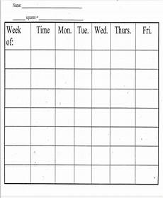 Weekly Behavior Chart 8 Printable Behavior Chart Template 9 Free Word Pdf