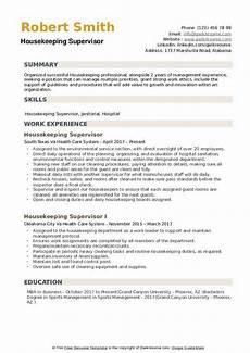 Housekeeping Skills Resume Housekeeping Supervisor Resume Samples Qwikresume