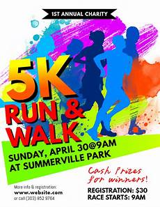 Walk A Thon Posters 5k Run Amp Walk Flyer Template Postermywall