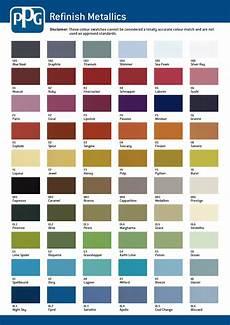 Metallic Car Paint Color Chart Ppg Colour Charts
