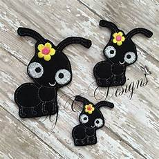 Ant Embroidery Design Sweet Ant Machine Embroidery Feltie File In Multiple Sizes