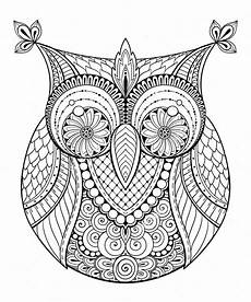 Ausmalbilder Eule Mandala Owl Zentangle Coloring Page With Images Omalov 225 Nky