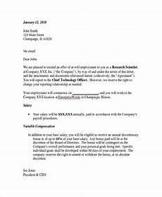 Letters Offering Employment Free 8 Sample Employment Offer Letter Templates In Pdf