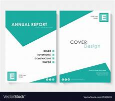 Free Report Cover Templates Green Square Annual Report Cover Design Template Vector Image