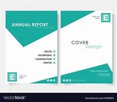 Report Cover Templates Green Square Annual Report Cover Design Template Vector Image
