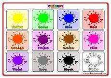 Basic Color Chart For Kids Colour Charts Charts For Kids Colours Poster Colour