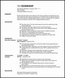 Keywords For Executive Assistant Resume Skills Based Resume Template Administrative Assistant