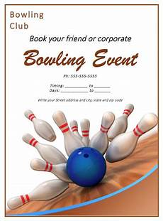 Bowling Flyer Bowling Match Flyer Template Free Flyer Templates