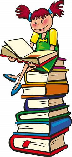 sitting on pile of books reading education reading