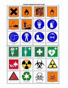Chemistry Lab Safety Science Laboratory Safety Signs