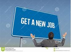 How To Get A New Job Get A New Job Against Blue Sky Stock Photo Image Of