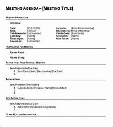 Training Agenda Template Word Agenda Template 12 Download Free Documents In Pdf