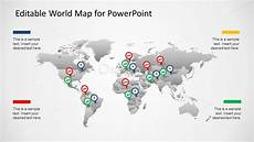 Powerpoint Template World Map Editable Powerpoint Political Outline World Map Slidemodel