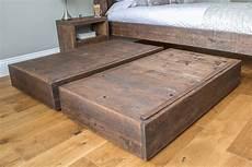reclaimed rustic wood hudson underbed storage eat sleep live