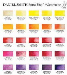 Daniel Smith Watercolor Color Chart Daniel Smith Watercolour Printed Colour Chart Watercolor