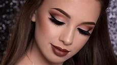 makeup fall warm brown makeup tutorial fall makeup look