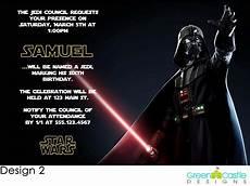 Star Wars Birthday Party Invitations 20 Star Wars Invitations Darth Vader Custom Photo