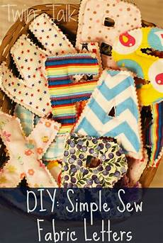 diy simple sew fabric letters talk
