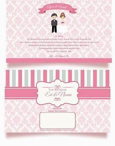 background undangan pernikahan batik pink 13 187 background