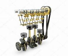 Automotive Camshaft Design Engine With Pistons Valves Crankshaft And Camshaft