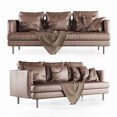 Sofa Cover 3 Seater Leather 3d Image by 3d Model Leather Lounge Sofa Cgtrader