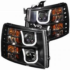 Led Lights For 85 Chevy Truck Anzo 111281 Projector U Bar Style Headlights Chevy Silverado