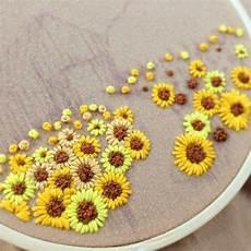 sunflower embroidery embroidery diy embroidery