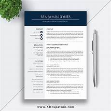 User Guide Cover Page Template Professional And Modern Resume Template For Ms Office Word
