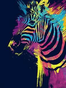 Colorful Zebra Design Zebra Splatters Digital Art By Olga Shvartsur