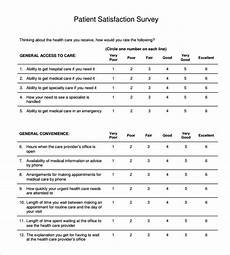 Satisfaction Survey Free 10 Sample Patient Satisfaction Survey Templates In
