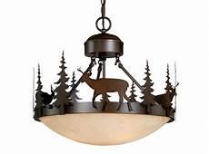 Rustic Lodge Pendant Lighting Bryce Vaxcel Deer Semi Flush Lighting Country Lodge Rustic