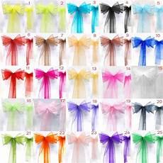 wholesale new organza chair sashes bow wedding and events