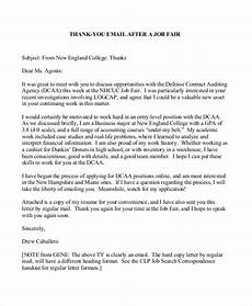 Thank You Letter After Job Fair Free 8 Sample Thank You Letter Formats In Ms Word Pdf