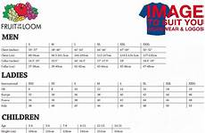 Fruit Of The Loom Size Chart Fruit Of The Loom Super Premium T Shirt Image To Suit You